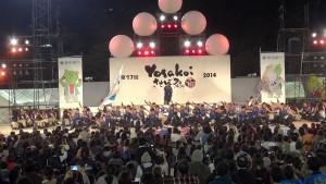 名切お祭り広場会場のファイナルステージ